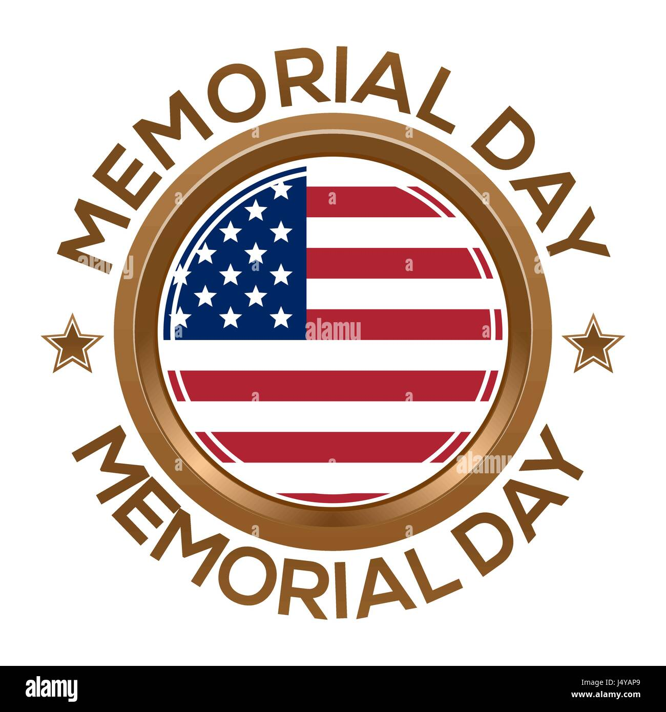 Round banner for Memorial Day Stock Vector