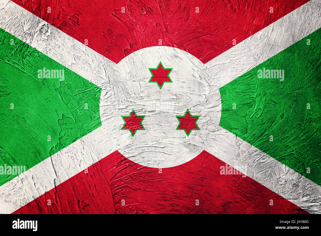 Grunge Burundi flag. Burundi flag with grunge texture. - Stock Image