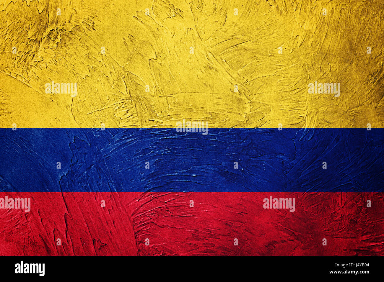grunge colombia flag colombian flag with grunge texture stock photo