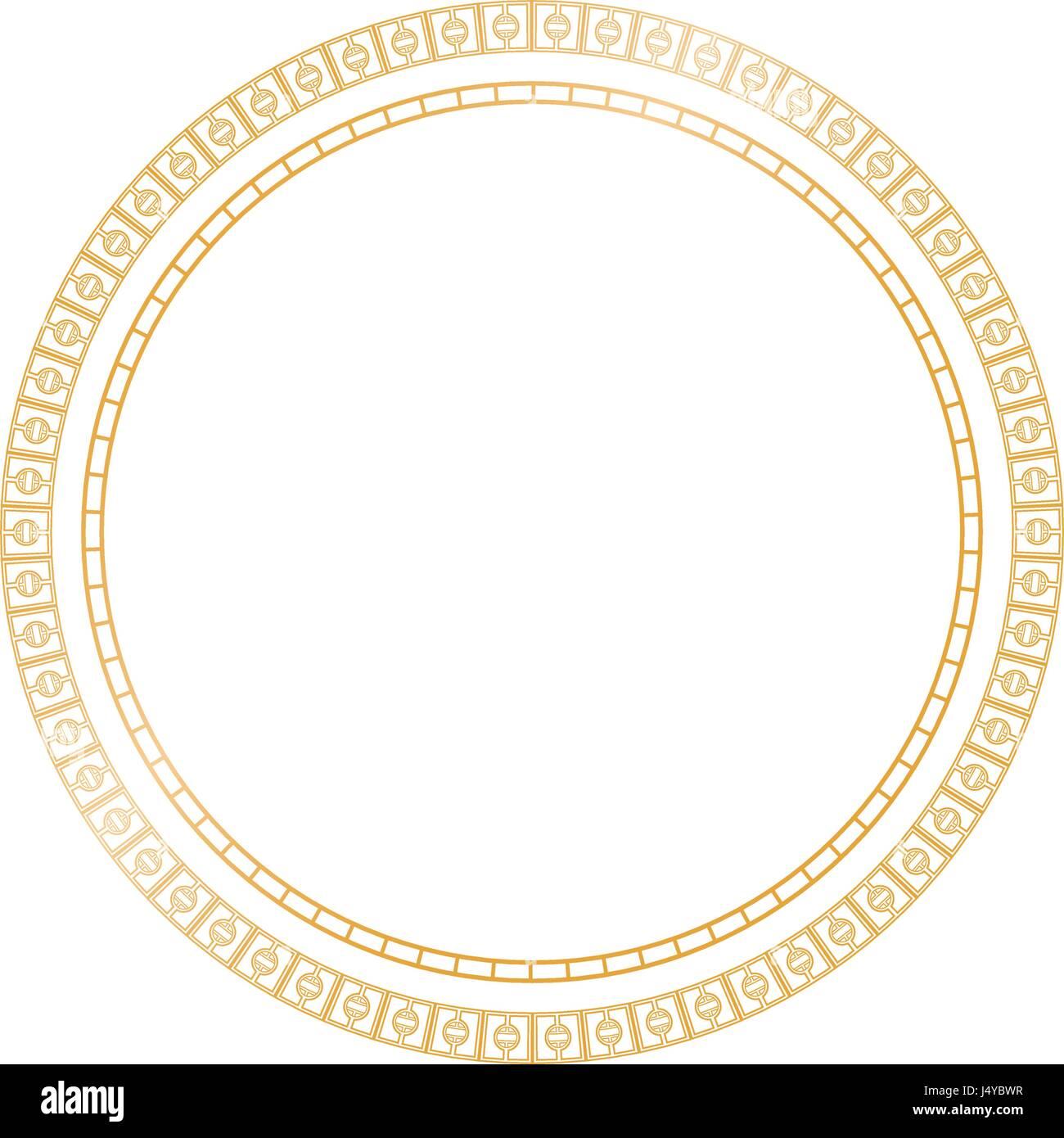 Golden Shiny Circle Frame on Transparent Background, Vector Stock ...