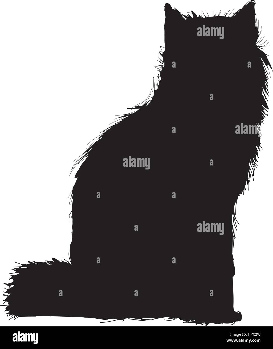 wolf wildlife animal image is pictogram . pencil sketch of wolf landscape Stock Vector