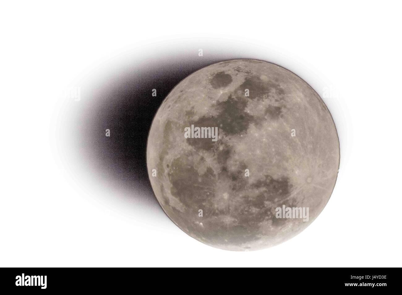 Full Super Moon - Stock Image