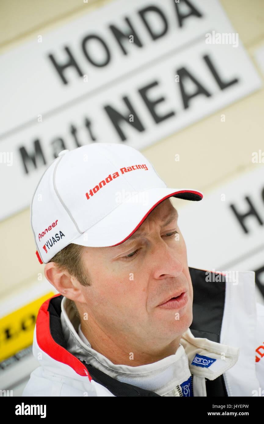 THRUXTON, UNITED KINGDOM - MAY 1: Honda Racing driver Matt Neal in the pits during the British Touring Car Championship - Stock Image