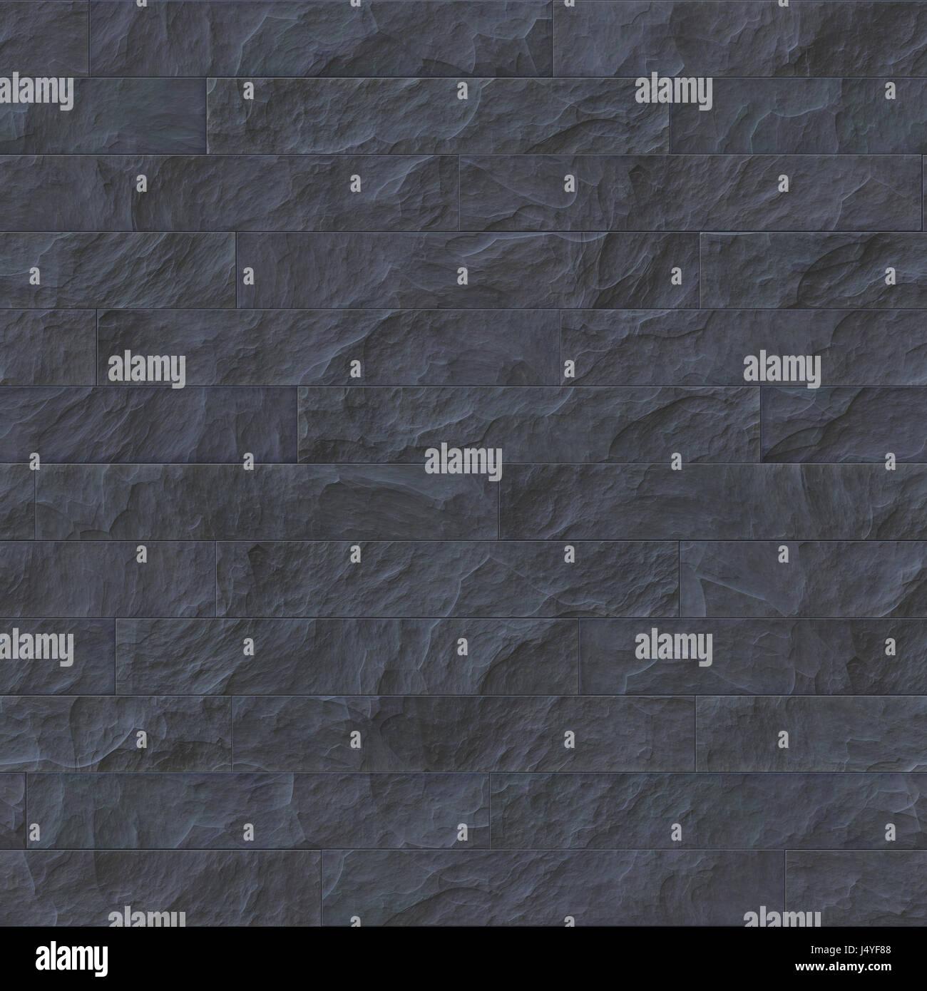 . Seamless dark stone brick texture illustration Stock Photo