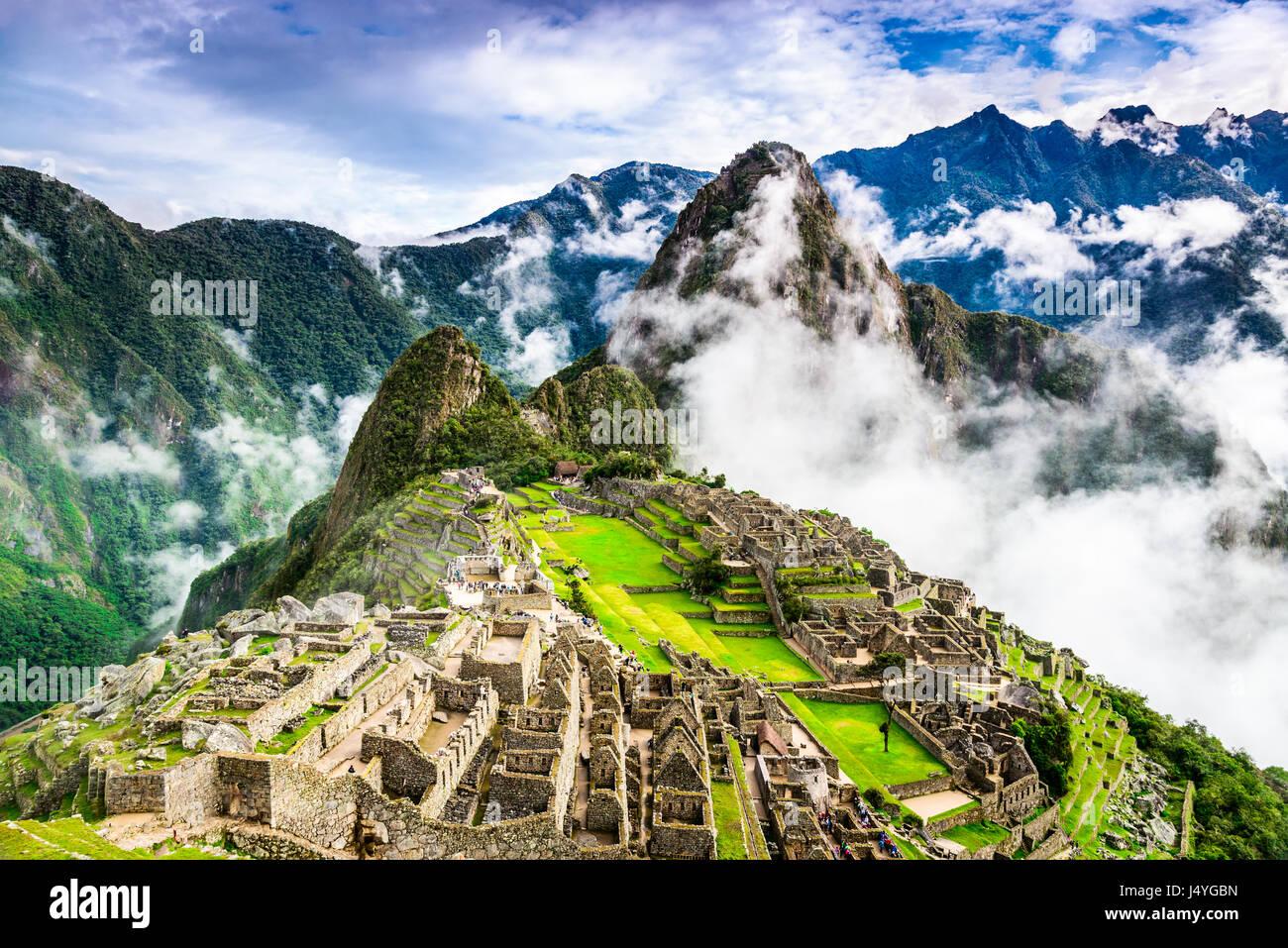 Machu Picchu, Peru - Ruins of Inca Empire city, in Cusco region, amazing place of South America. Stock Photo