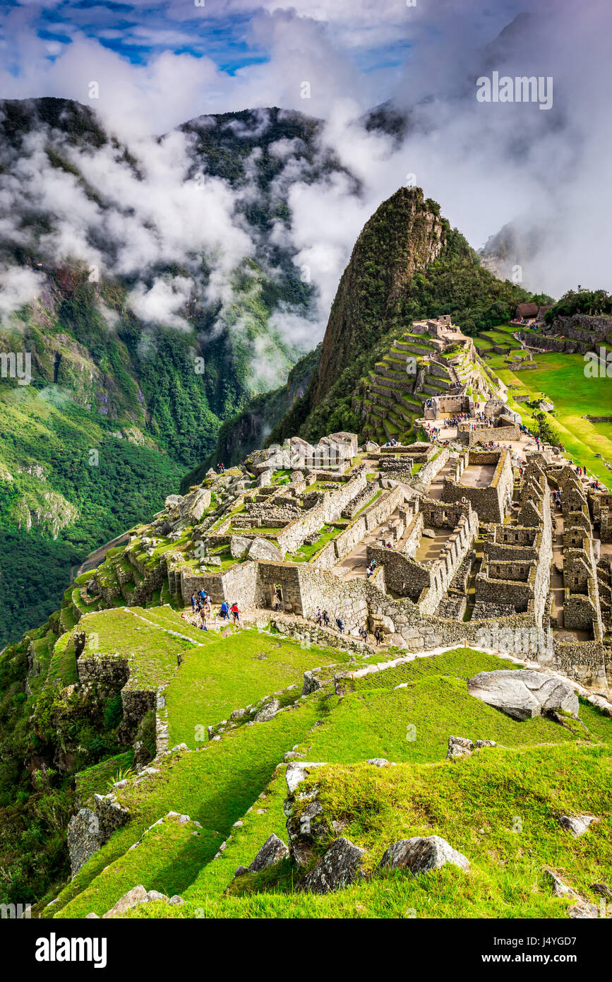 Machu Picchu, Peru - Ruins of Inca Empire city, in Cusco region, amazing place of South America. - Stock Image