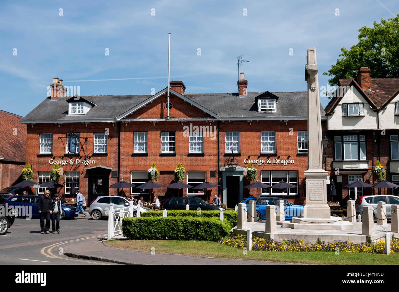 George and Dragon pub, Marlow, Buckinghamshire, England, UK Stock Photo