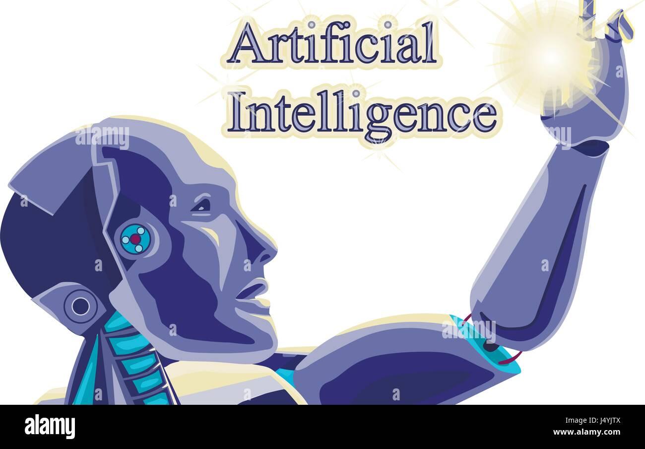 Futuristic Concept Robot Vector of Artificial Intelligence Stock ...