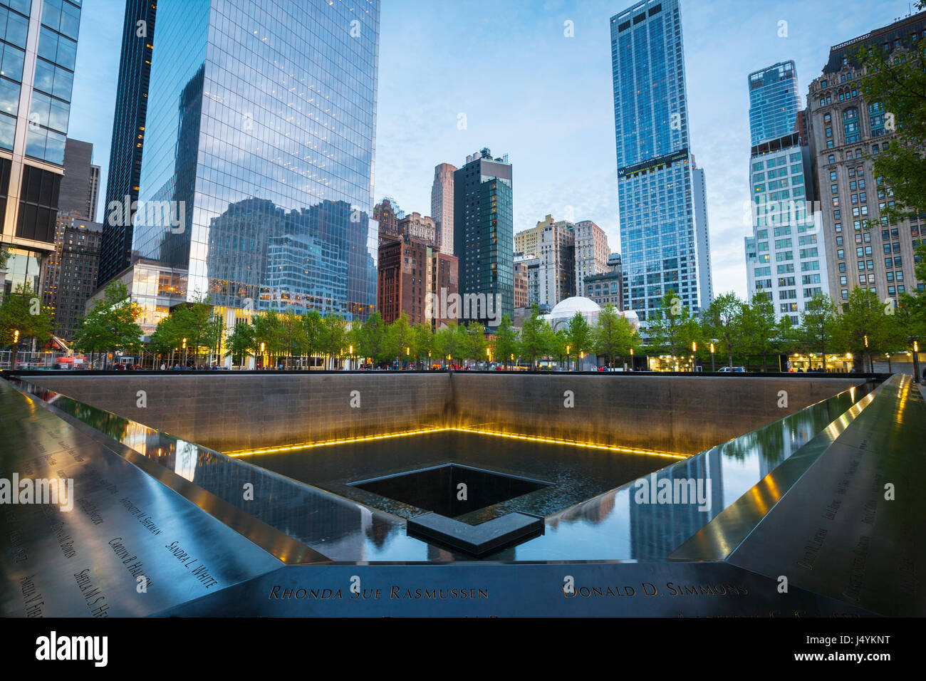9/11 Memorial, The National September 11 Memorial & Museum, New York - Stock Image