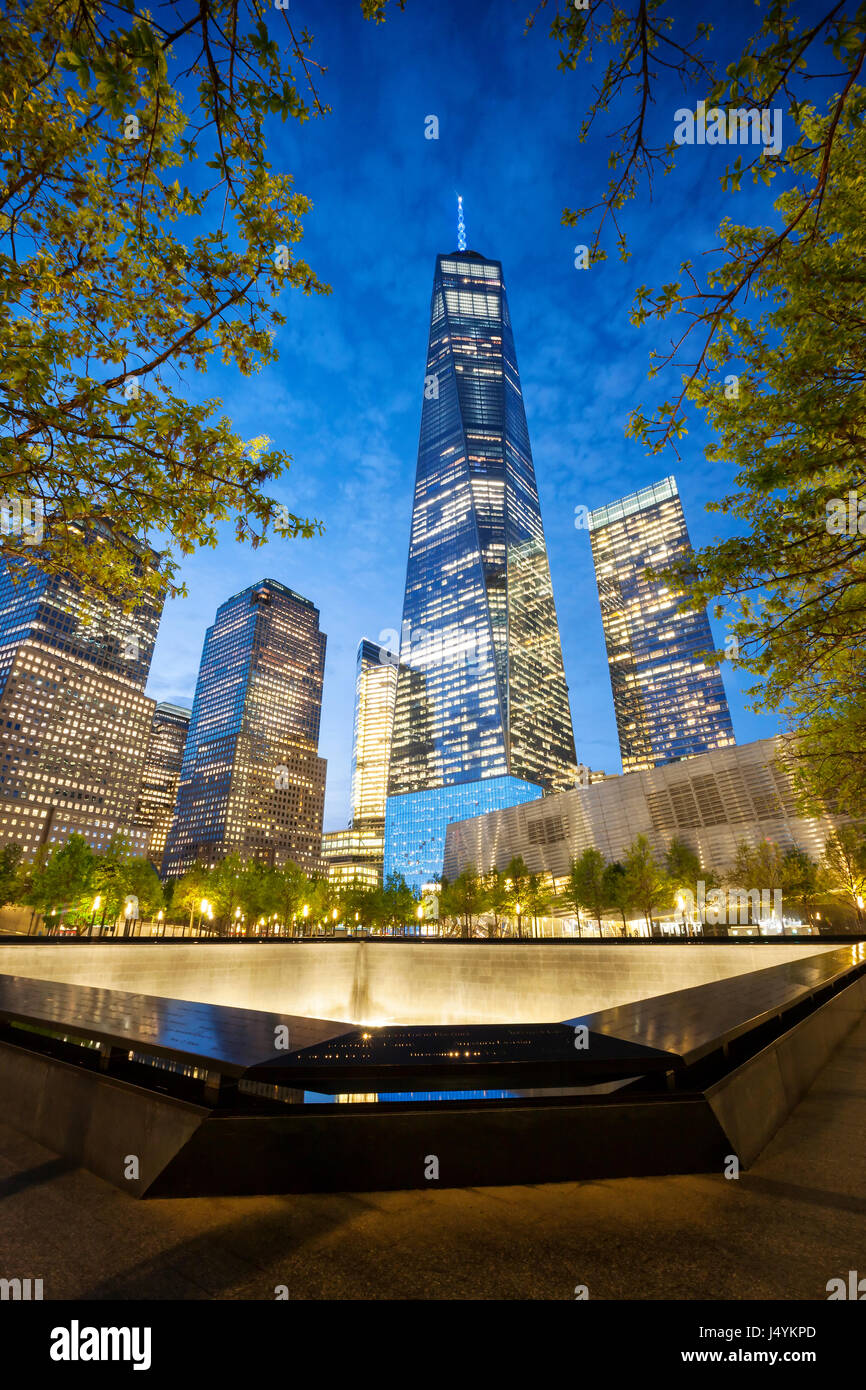9/11 Memorial, The National September 11 Memorial & Museum, New York Stock Photo