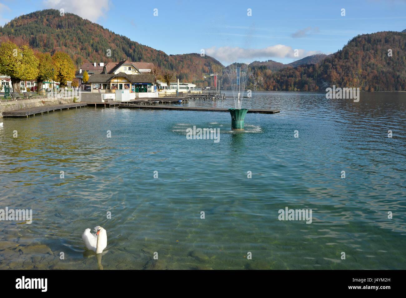 St. Gilgen, Wolfgangsee, Austria - Stock Image