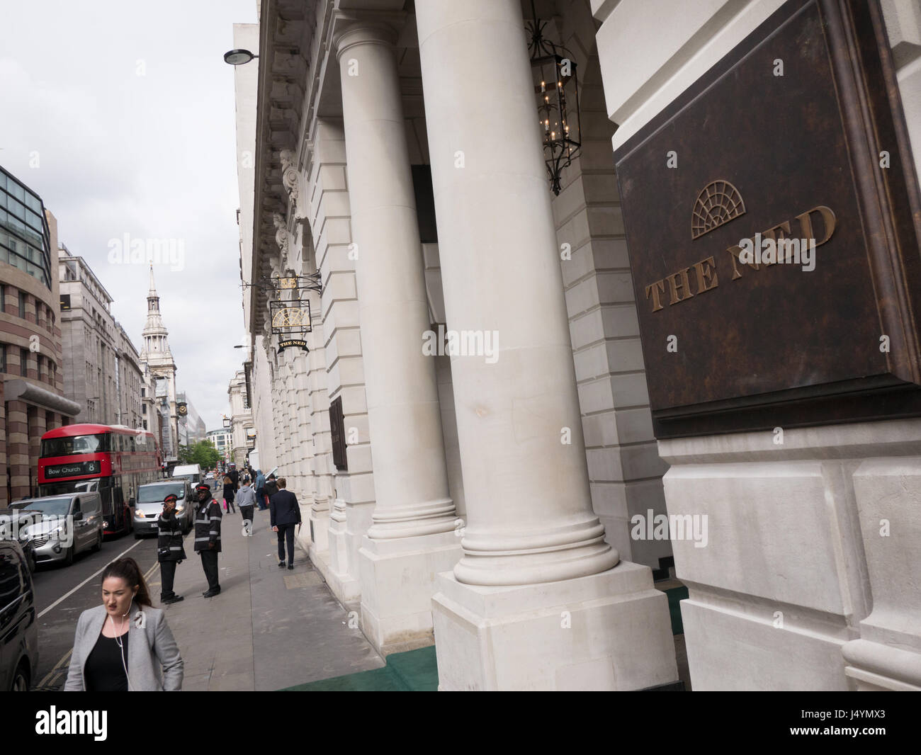 The Ned Hotel, City Of London - Stock Image