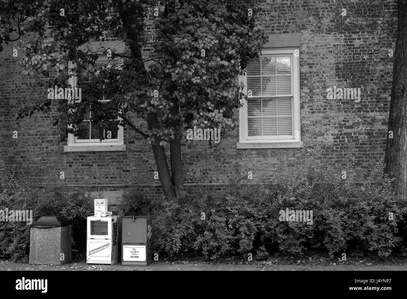 Newspaper Stands, University of North Carolina at Chapel Hill - Stock Image