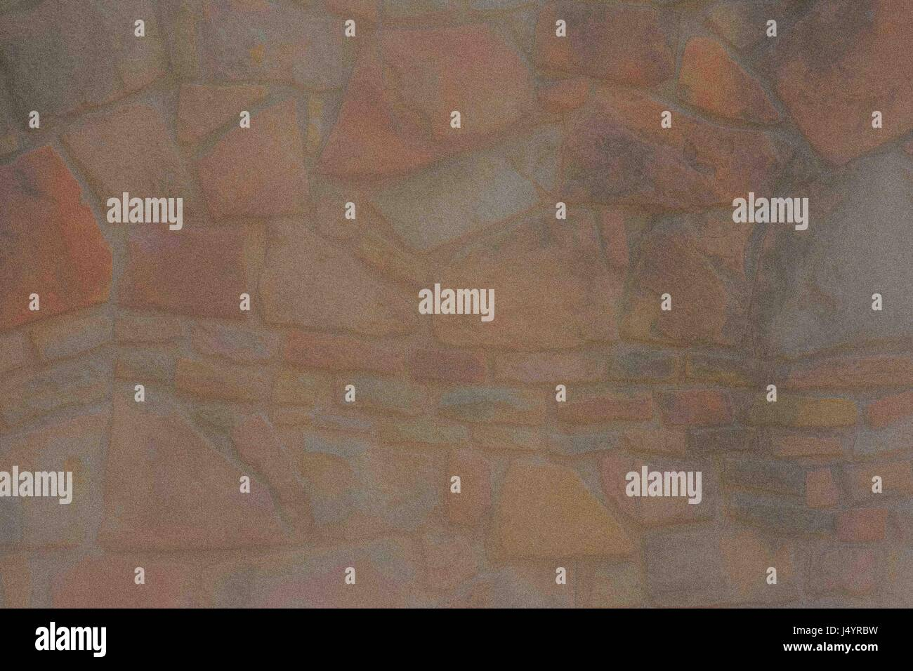 Pastel blurred stonewall background backdrop - Stock Image