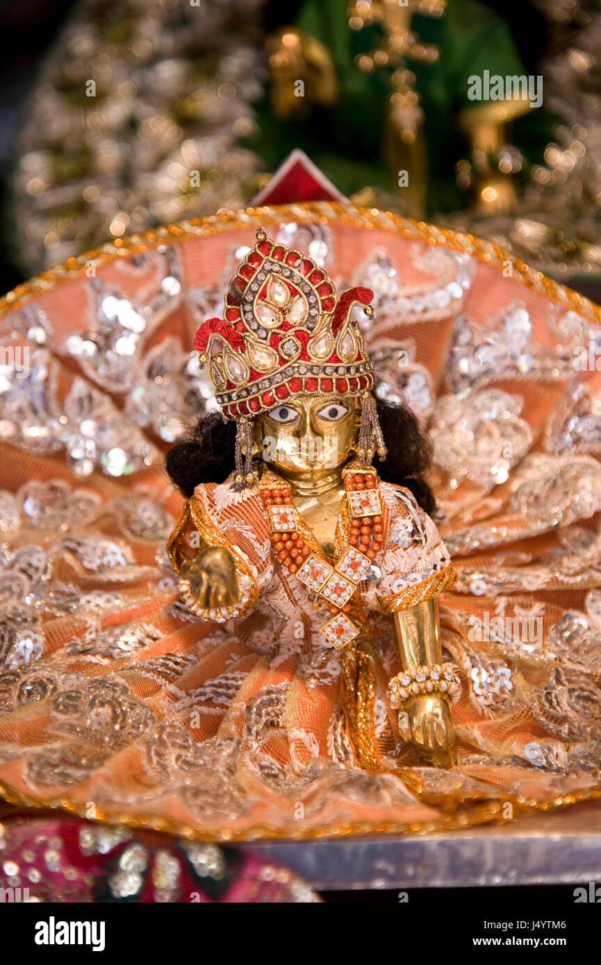 bal gopal krishna idol mathura uttar pradesh india asia J4YTM6