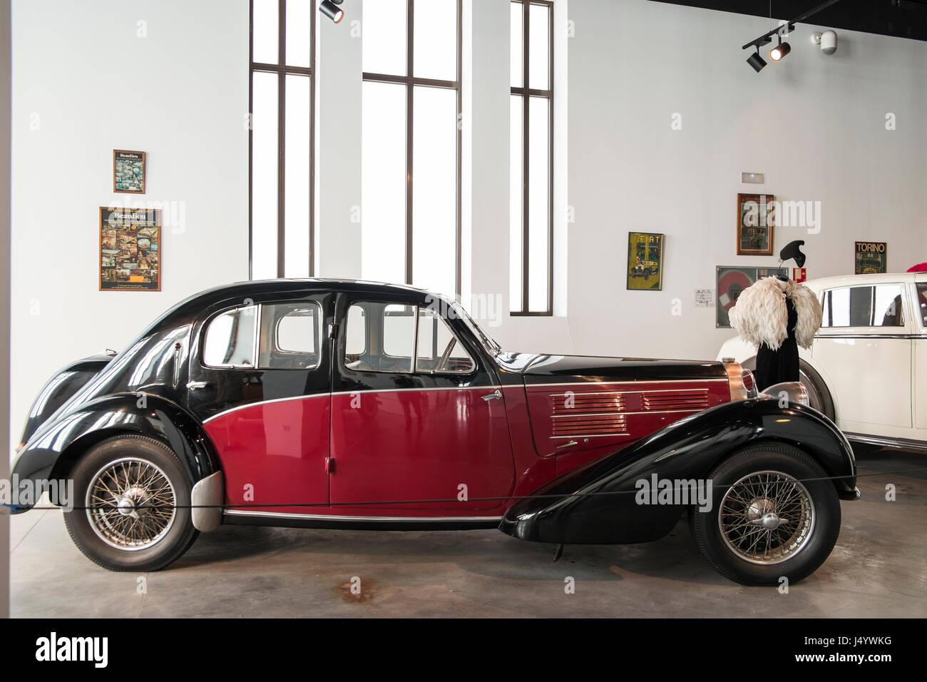 1936 Bugatti Type 57C Galibier. Automobile museum fo Málaga, andalusia, Spain. - Stock Image
