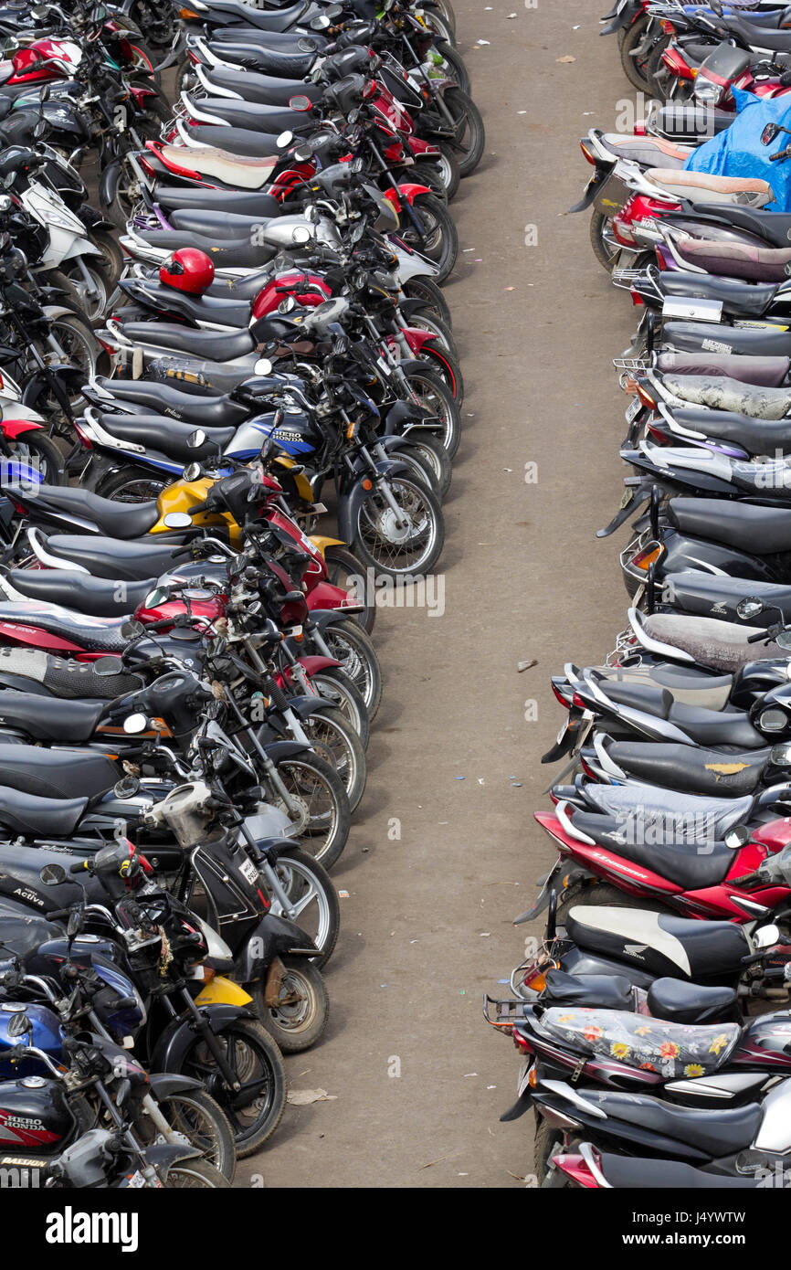 View Of Parked Bikes Stock Photos View Of Parked Bikes Stock