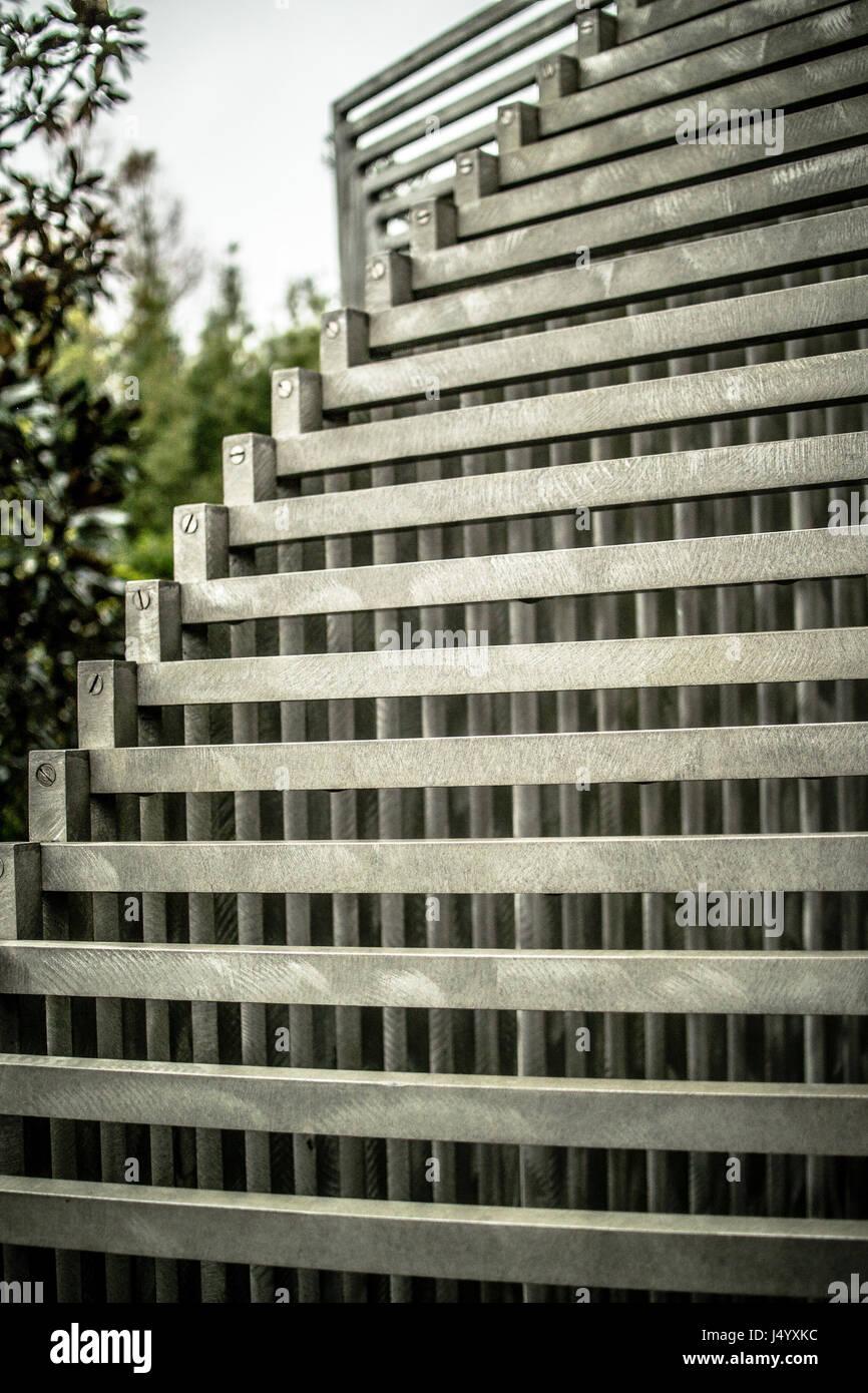Sunyatta (1979) by Linda Howard - Sand stripped aluminium - Stock Image