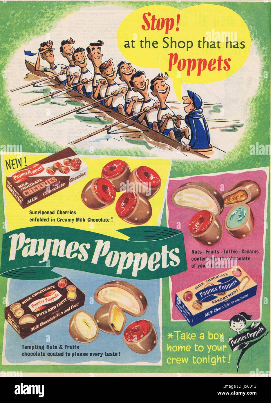 Paynes Poppets Historical Advertising 1950's - Stock Image