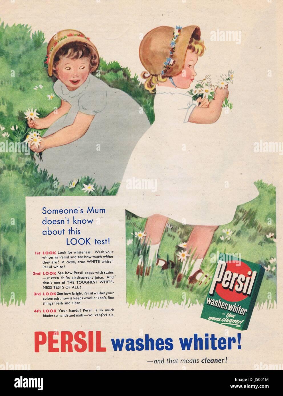 Persil Washing Powder Advert 1950's - Stock Image