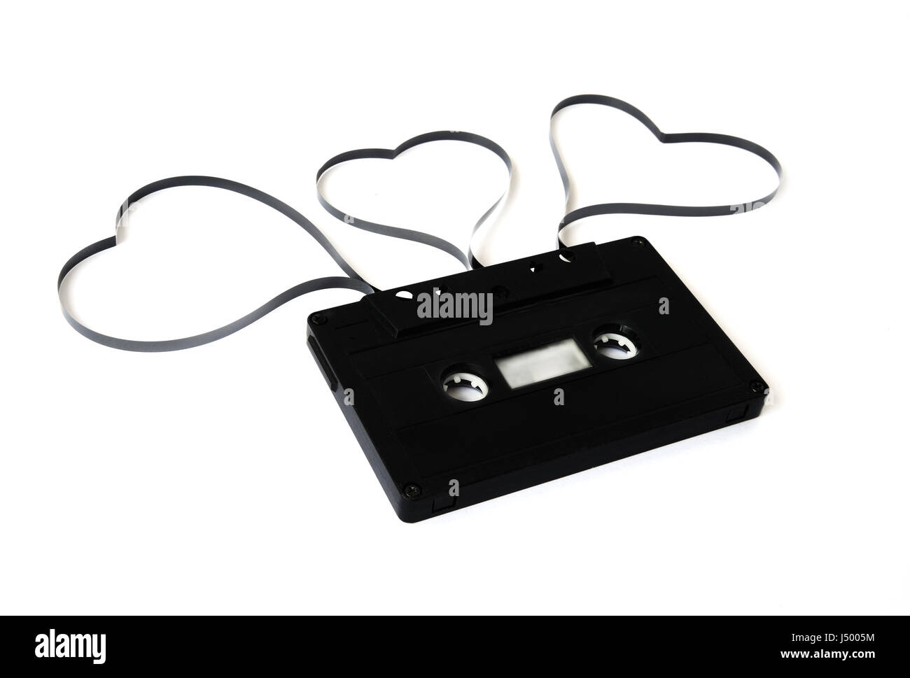old cassette tape isolated - Stock Image