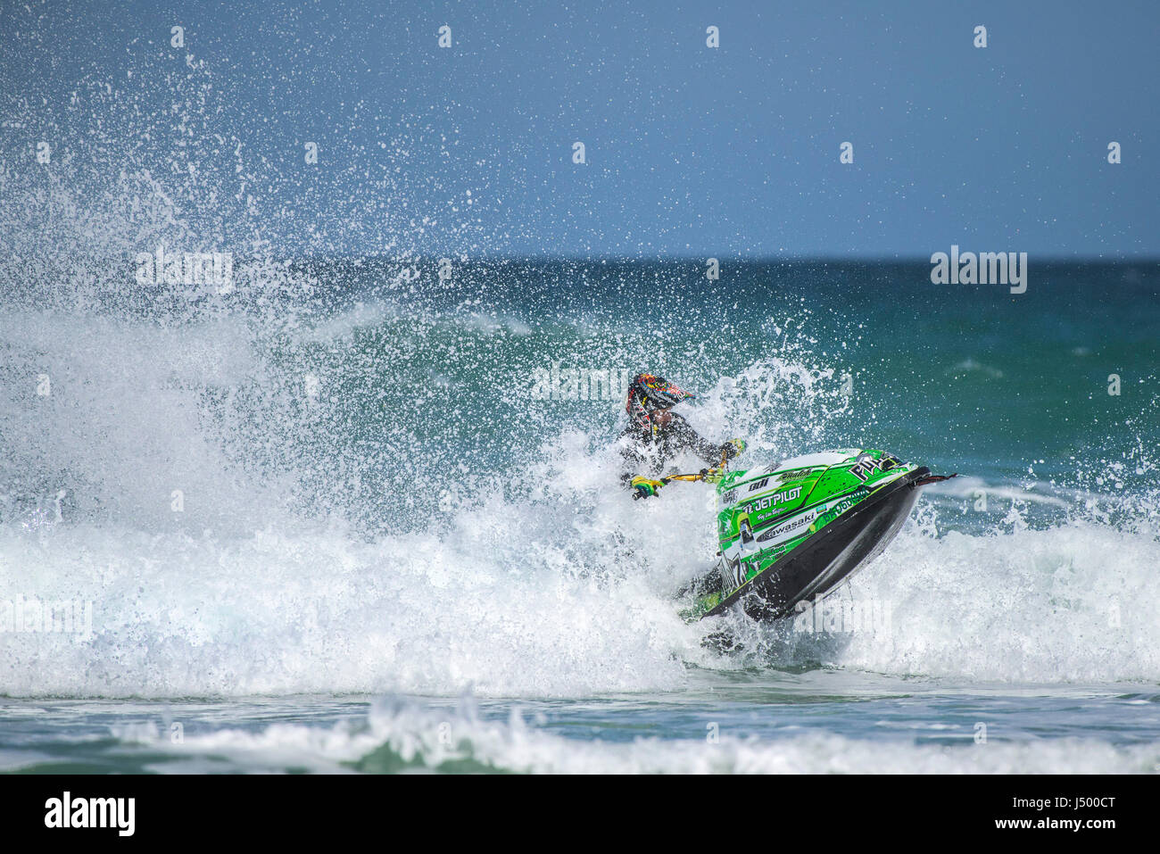 A jetski rider at the IFWA Championships Jetski Jet ski Spectacular action  IFWA Championships Battle of the pilots Stock Photo