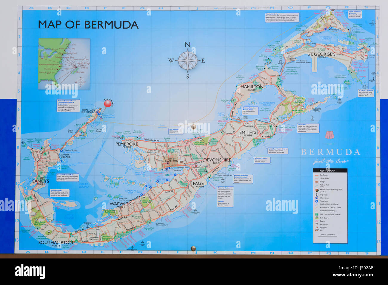 Map Bermuda Stock Photos & Map Bermuda Stock Images - Alamy