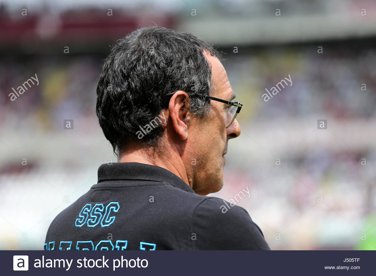 Maurisio Sarri, head coach of SSC Napoli,  before  the Serie A football match between Torino FC and SSC Napoli at Stock Photo