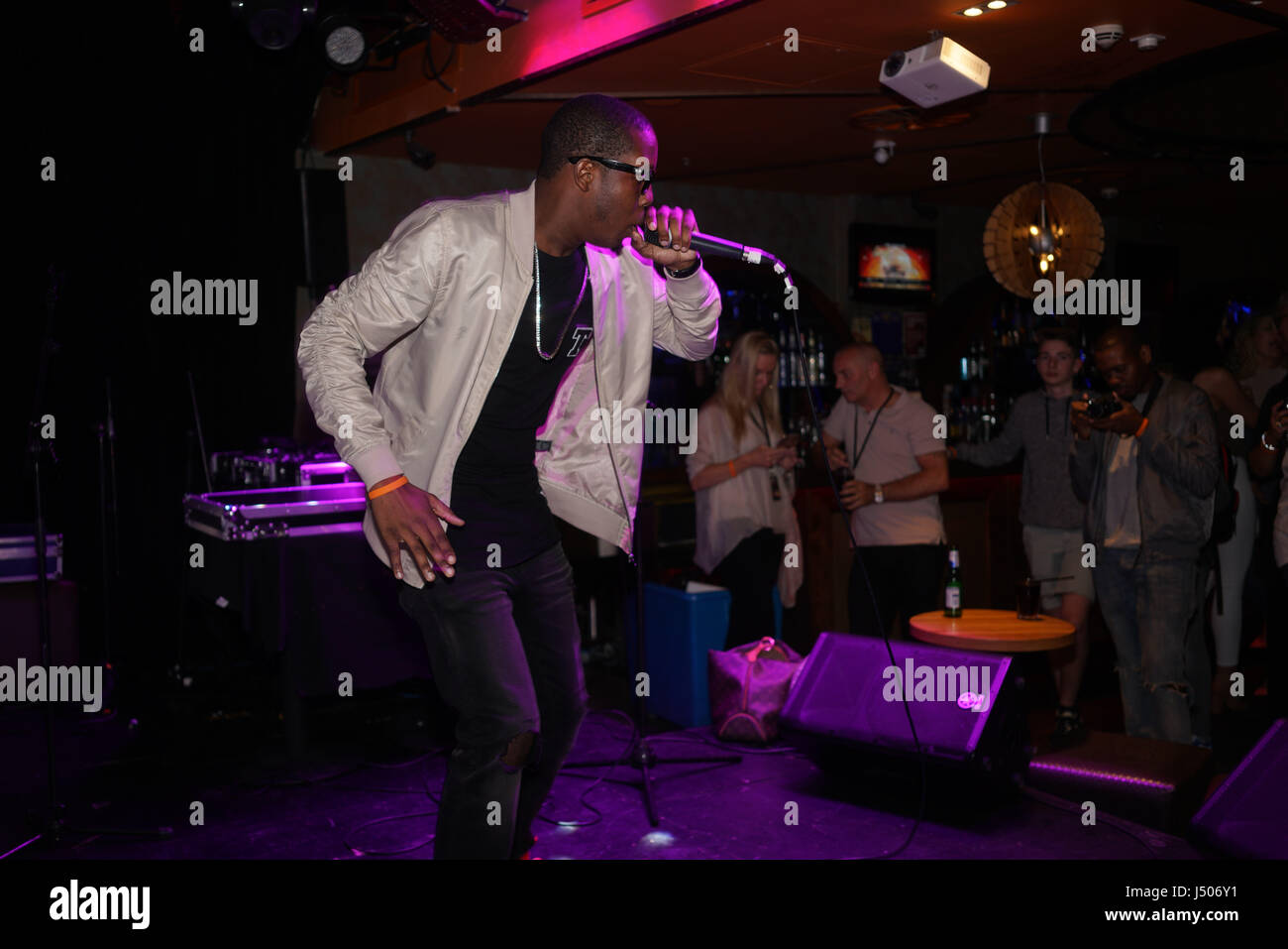 London, England, UK. 14th May, 2017. Jerome Thomas (TCO) is a rapper attends the after party of the BBL Play-Off - Stock Image