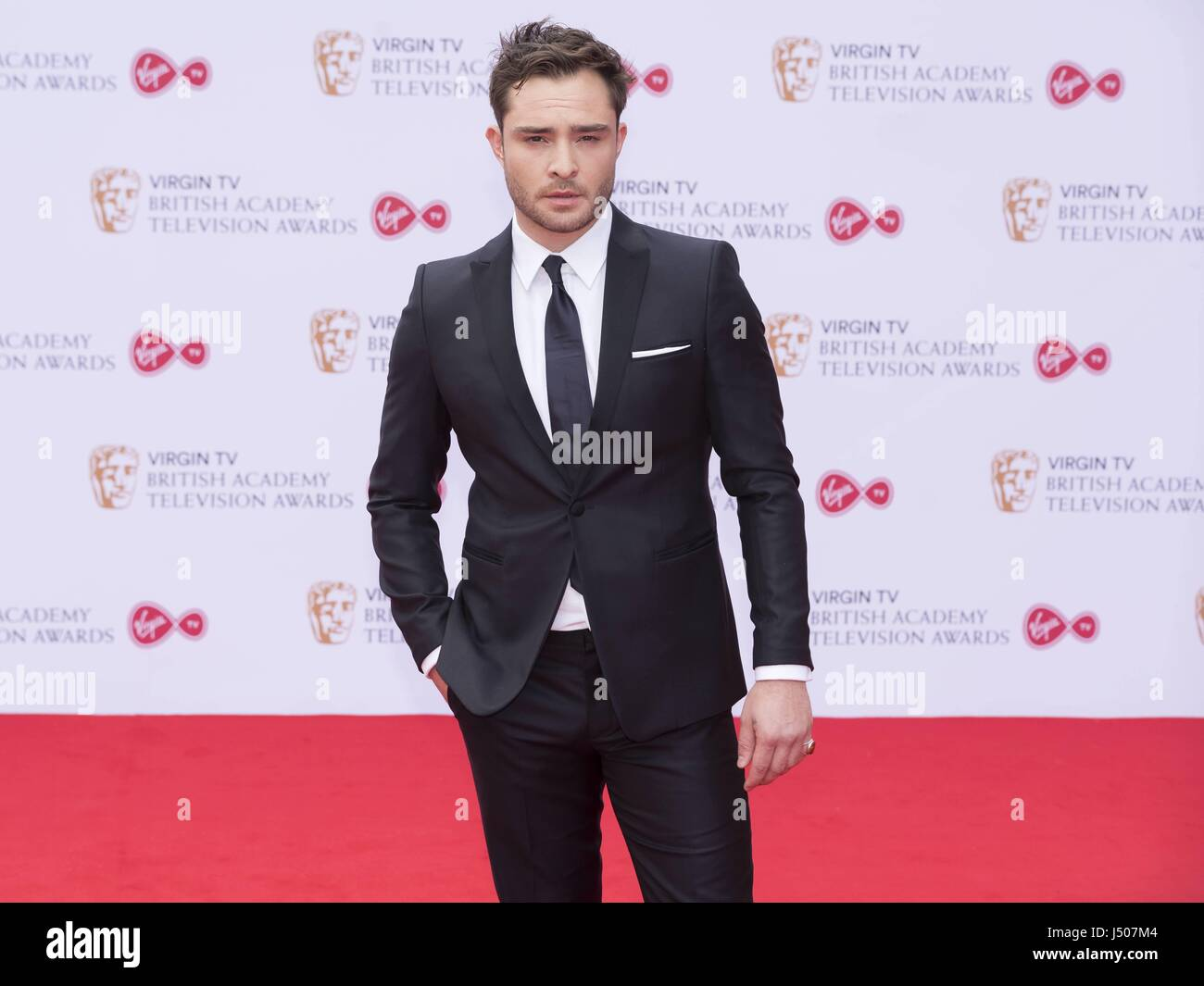 London, United Kingdom Of Great Britain And Northern Ireland. 14th May, 2017. Ed Westwick attends the Virgin TV - Stock Image