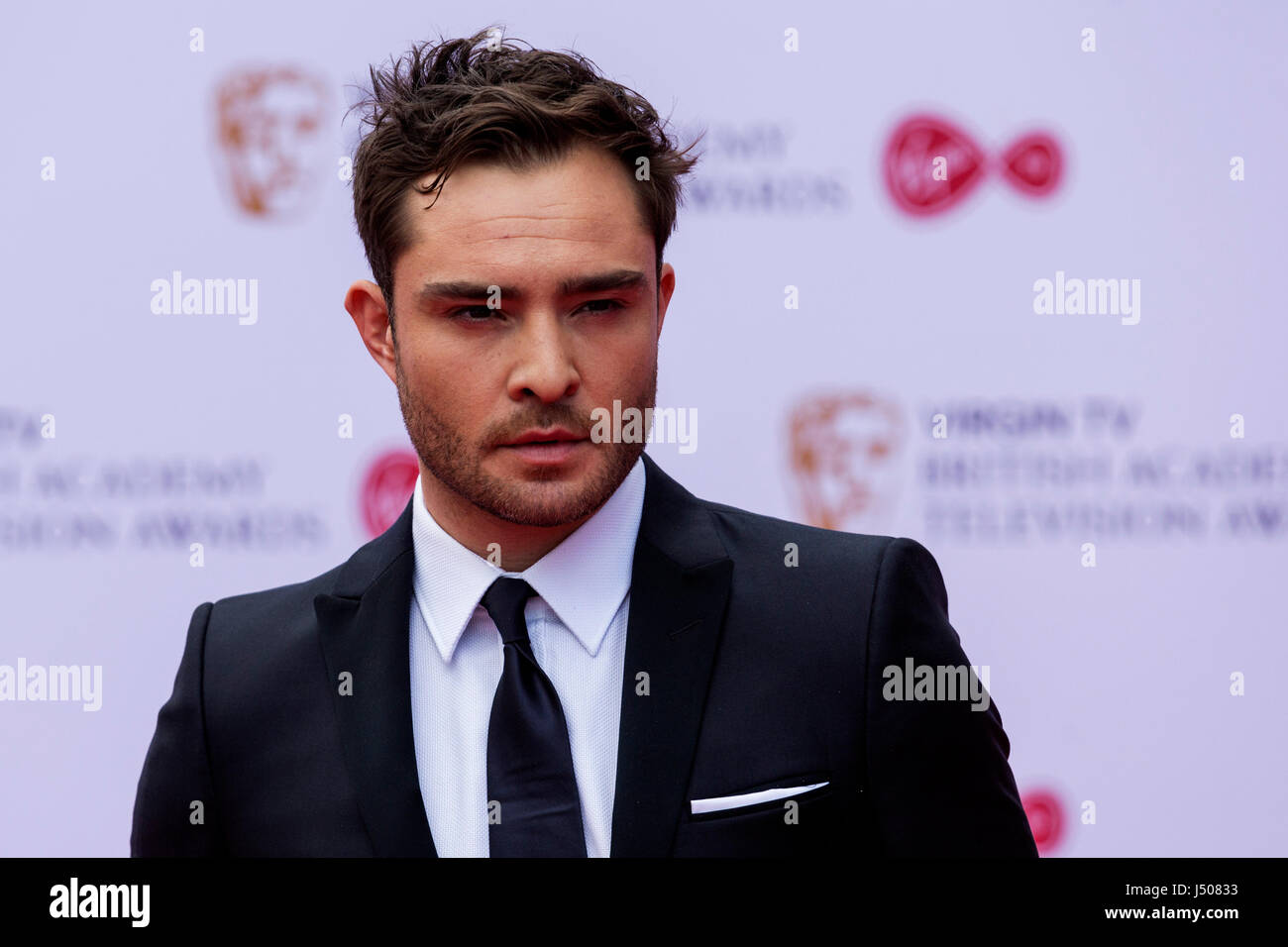 Lonodn, UK. 14 May 2017. Ed Westwick arrives for the Virgin TV British Academy Television Awards (BAFTAs) at the - Stock Image