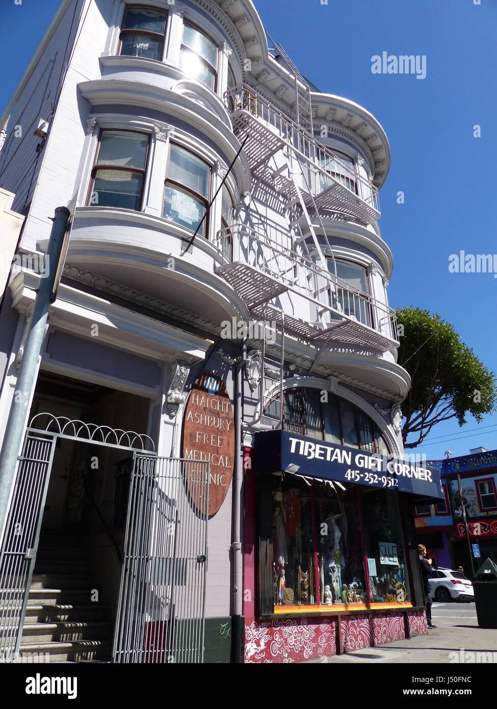 San Francisco, USA. 1st May, 2017. The Haight Ashbury Free Medical Clinic in San Francisco, USA, 1 May 2017. It - Stock Image