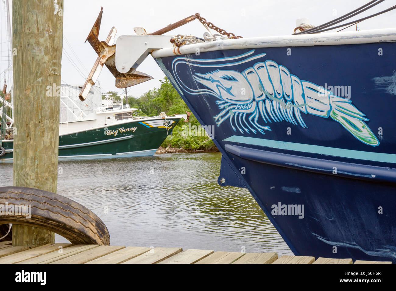 Alabama Bayou la Batre commercial shrimp fleet fishing boat