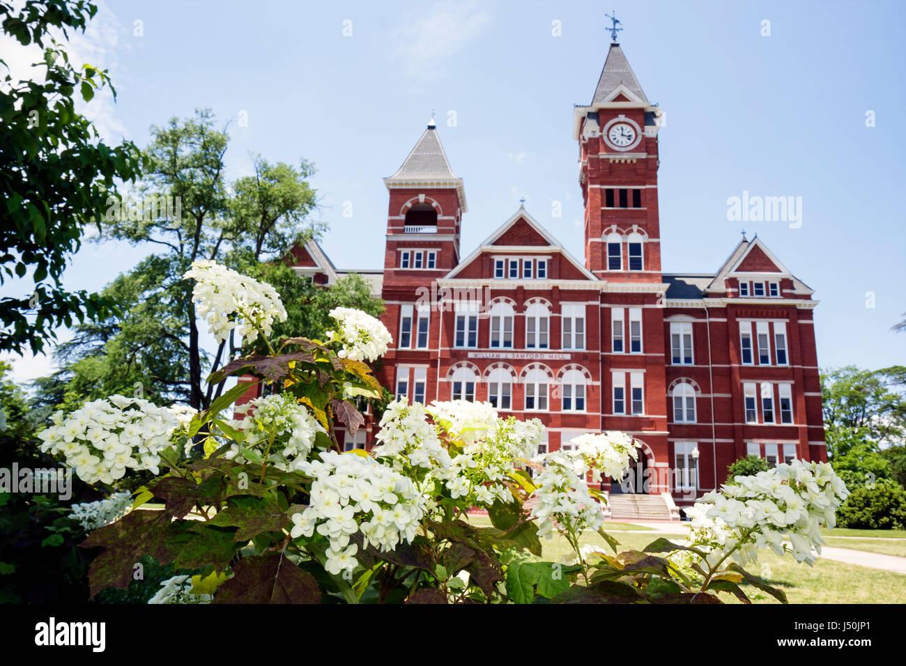Auburn Alabama Auburn University Samford Hall Clock Tower