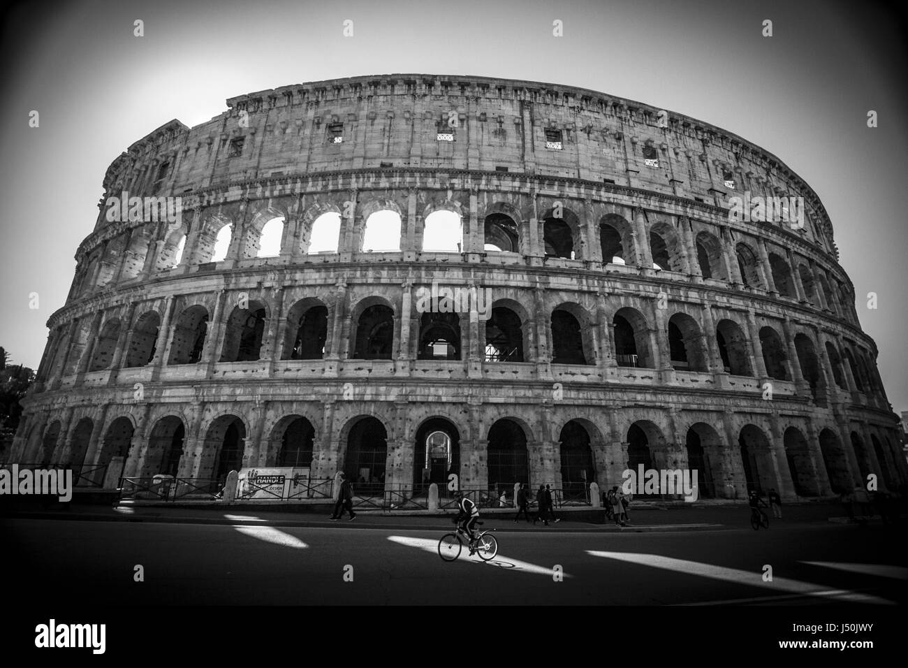 The coliseum in black and white rome italy europe