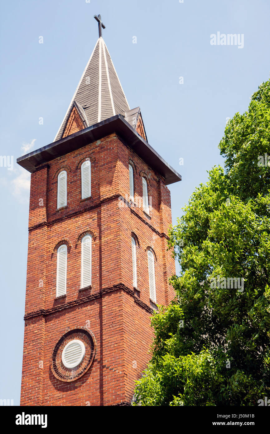 Alabama Dothan Cherry Street A.M.E. Church organized 1877 Black History steeple historic religion - Stock Image