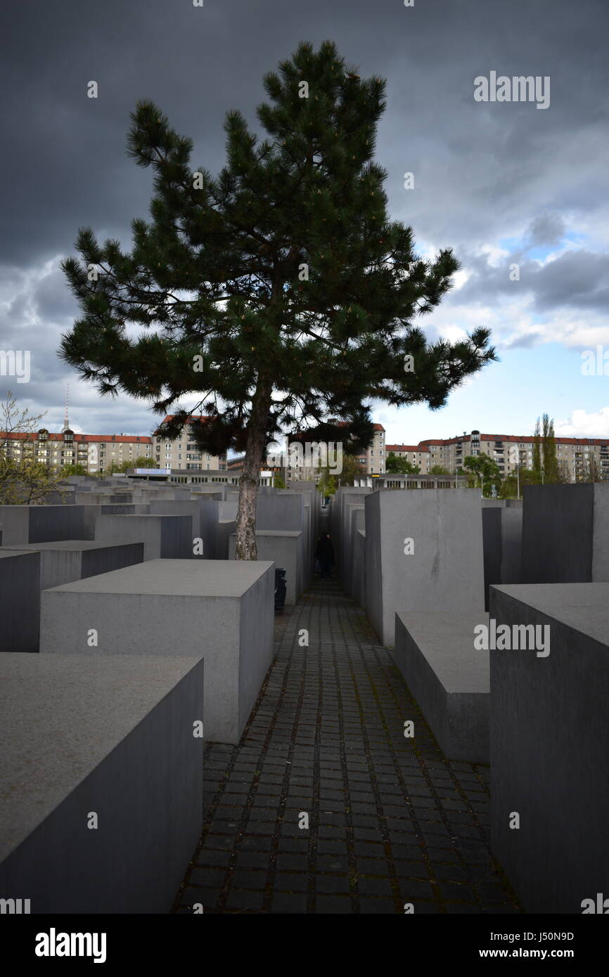 Memorial to the Murdered Jews of Europe - Stock Image