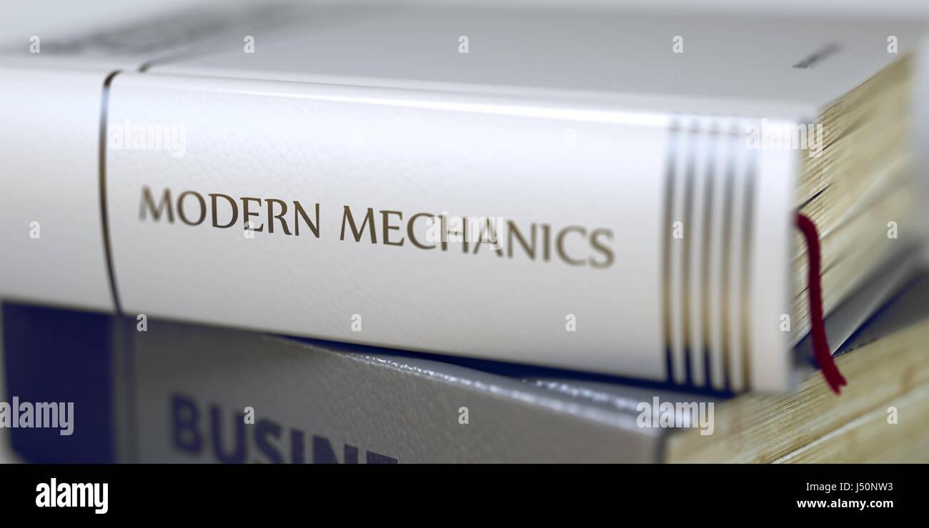 Book Title of Modern Mechanics. 3D. - Stock Image