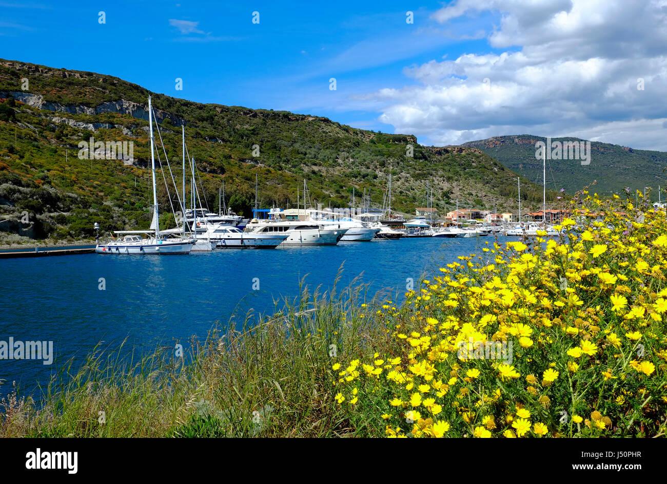 bosa marina, sardinia, italy - Stock Image