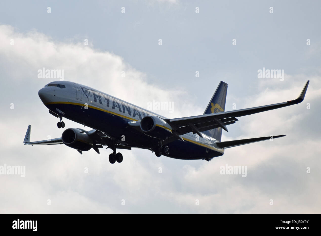 EI-FZJ Ryanair Boeing 737-800 - cn 44788 / 6359 on final approach to LGW London Gatwick airport - Stock Image