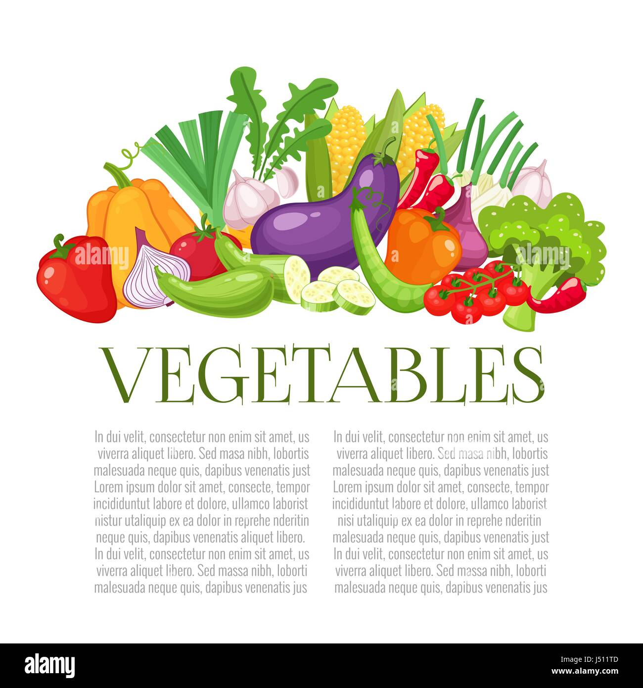 Vegetables top view frame. Farmers market menu design. Organic food ...