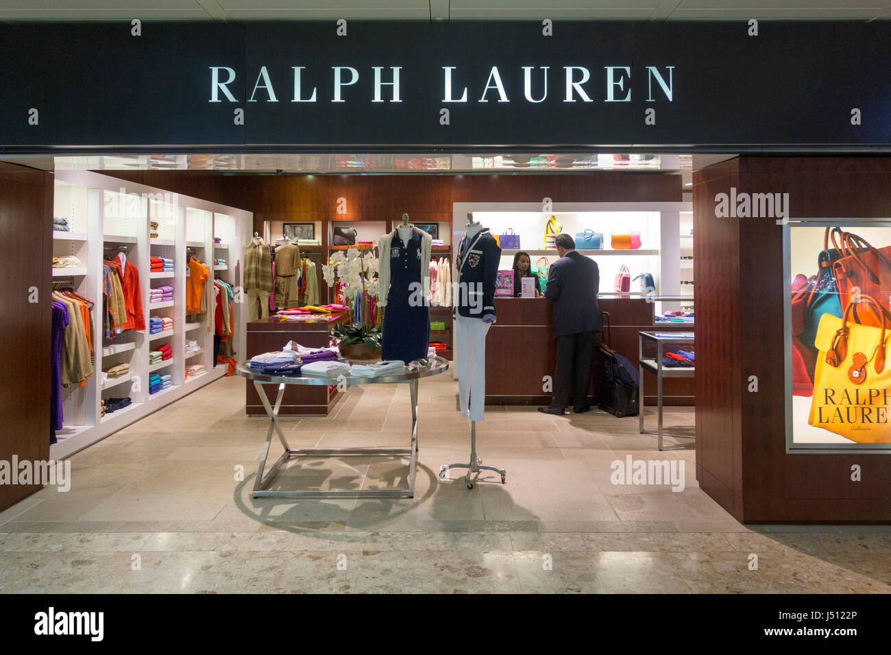 Ralph Lauren store, Geneva International Airport, Switzerland - Stock Image