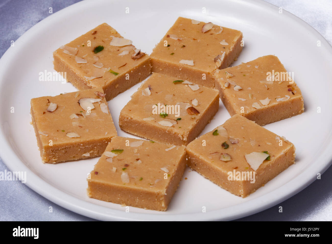 Indian's favourite festival sweets. Burfi. Especially during Diwali festival and Christmas Time. - Stock Image