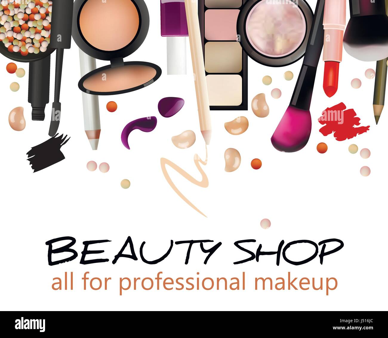 Beauty shop business card design. Banner. Cosmetics Stock Vector Art ...