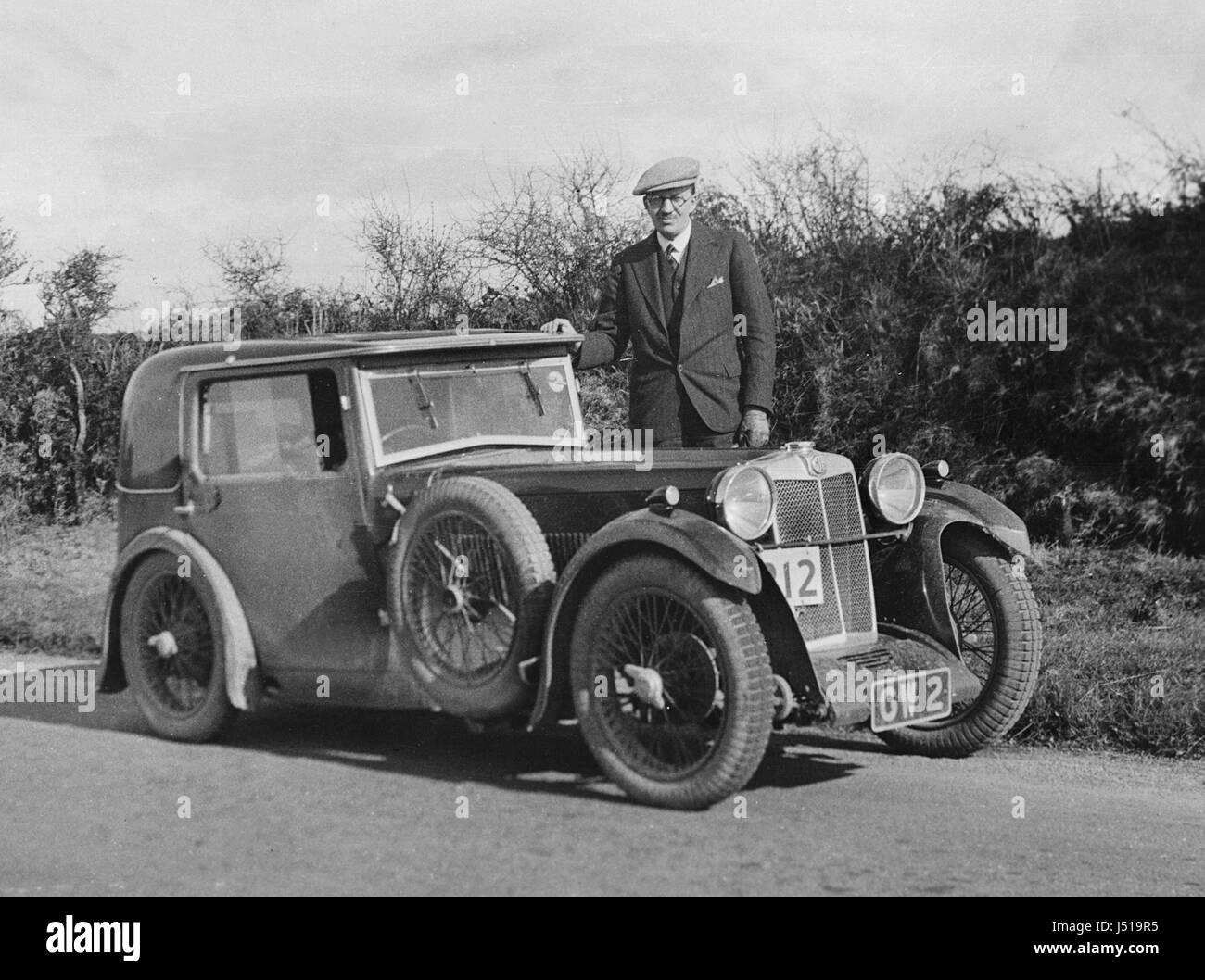 1932 MG Magna F type salonette - Stock Image