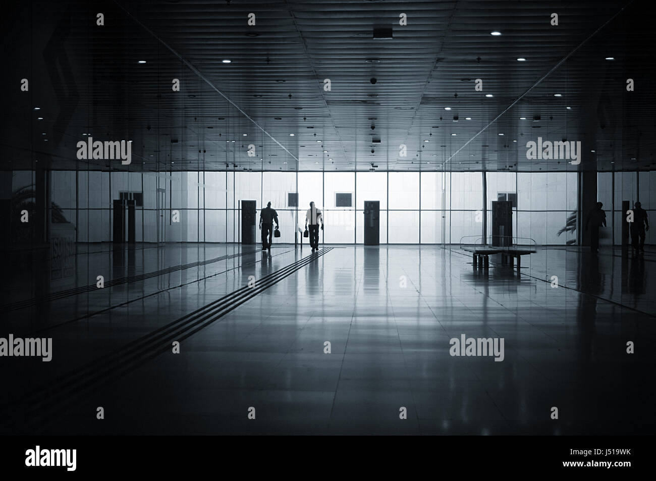 airport arrival arrivals travel traveller traveling air miles solo business trip trips frequent flyer flyers flying - Stock Image