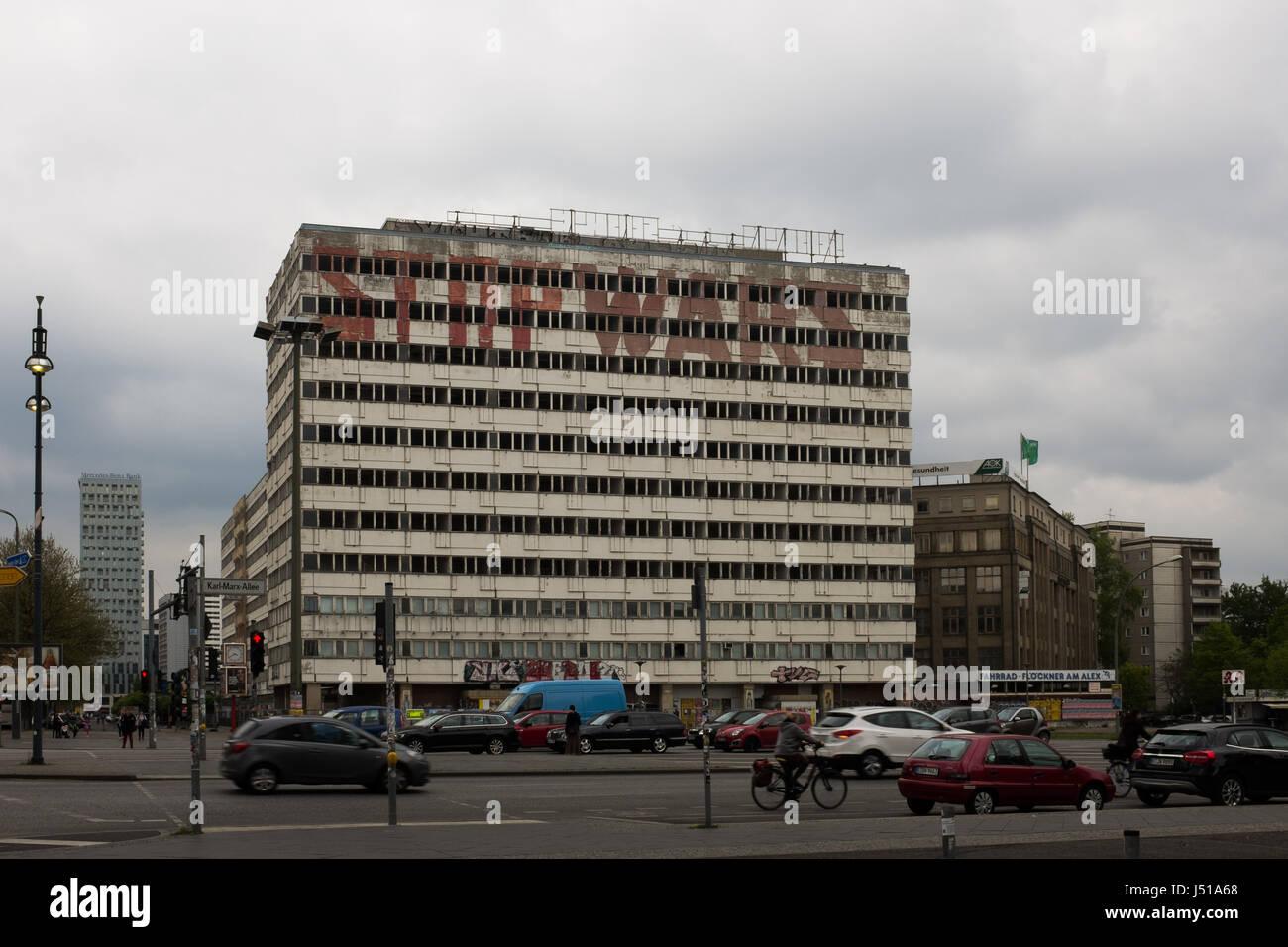 Berlin May 3th Abandoned Building Haus Der Statistik German For