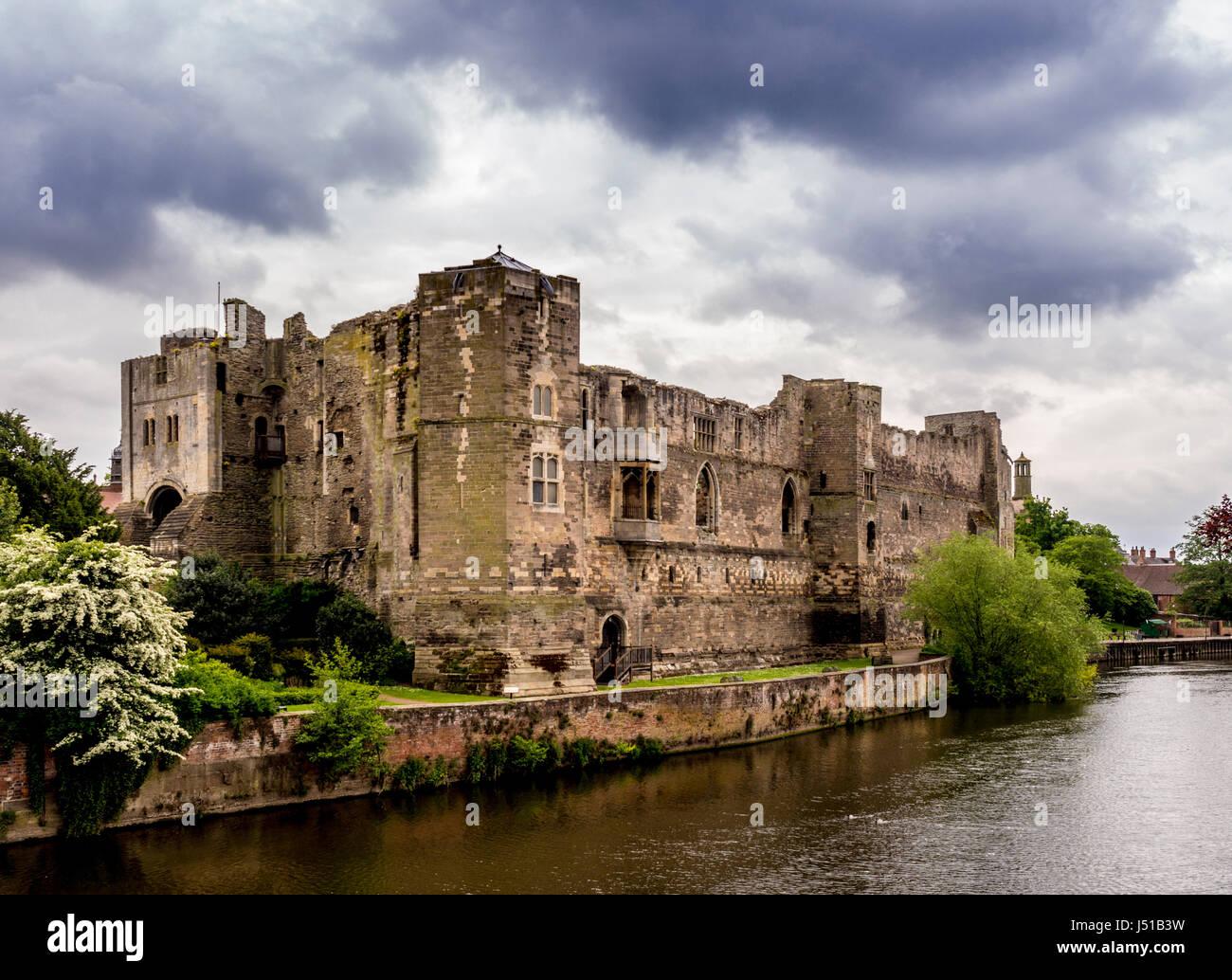 Newark Castle, Newark on Trent, UK. - Stock Image