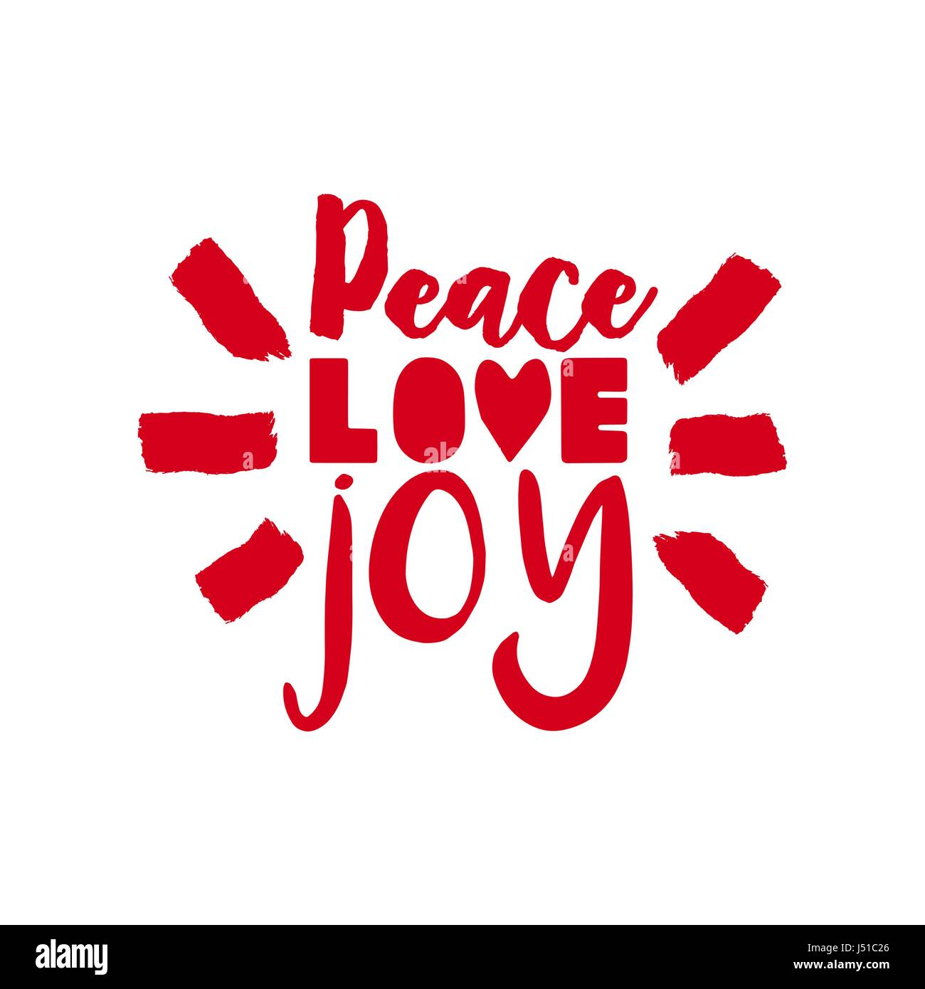 Merry christmas calligraphic quote design peace love joy lettering merry christmas calligraphic quote design peace love joy lettering illustration for holiday season greeting card eps10 vector m4hsunfo