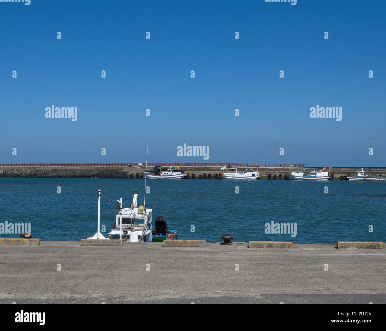 boats on water at their mooring - Stock Image